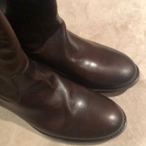 Frye Brown leather boots size 6.5 Ladies